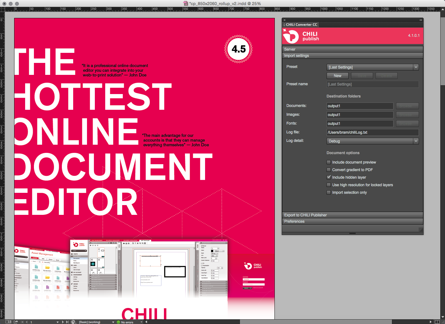 easy template creation why chili publisher